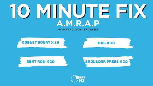 10 Minute Fix AMRAP Challenge #1 (Total Body)
