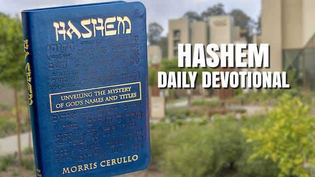 HaShem Reading - January 3rd
