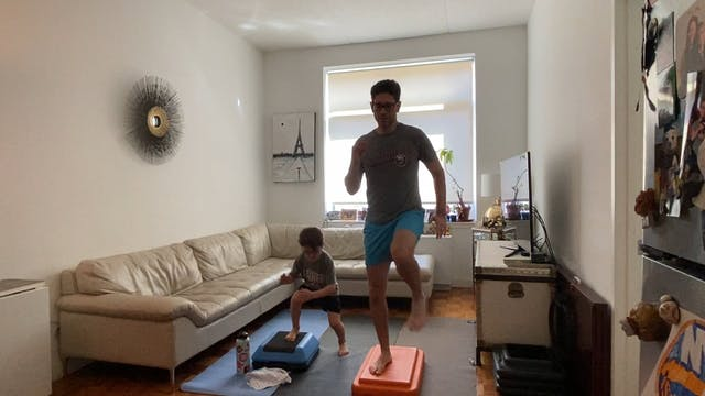 Kid/family cardio 20 with Jett and Larry
