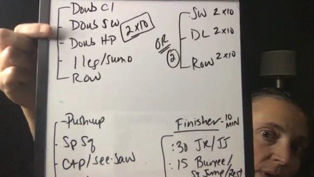 Back workout opener, sweaty finisher ...