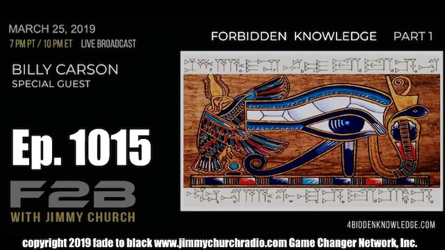 Ep. 1015 FADE to BLACK Jimmy Church w  Billy Carson  The Emerald Tablets P1 LIVE