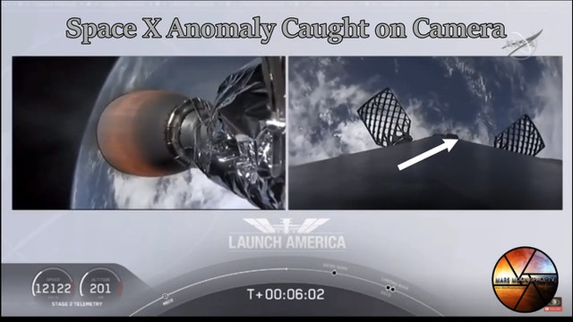Space X Anomaly caught on Camera. Space X Launch Falcon 9