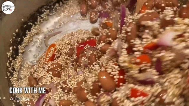 Angelee Cooks - Spanish Style Quinoa