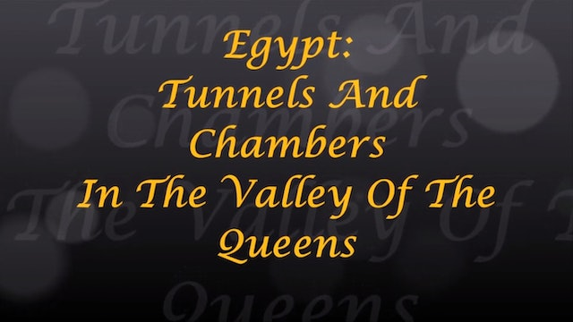 Egypt Tunnels And Chambers In The Valley Of The Queens