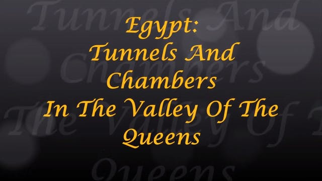 Egypt Tunnels And Chambers In The Val...