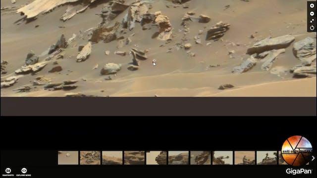 Mars Anomalies. Curiosity Capture Obj...