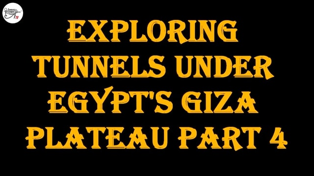 Brien Foerster - Exploring Tunnels under Egypt's Giza Plateau