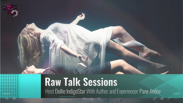 Raw Talk Sessions - Dollie IndigoStar - Guest Pane Andov Author and Experiencer