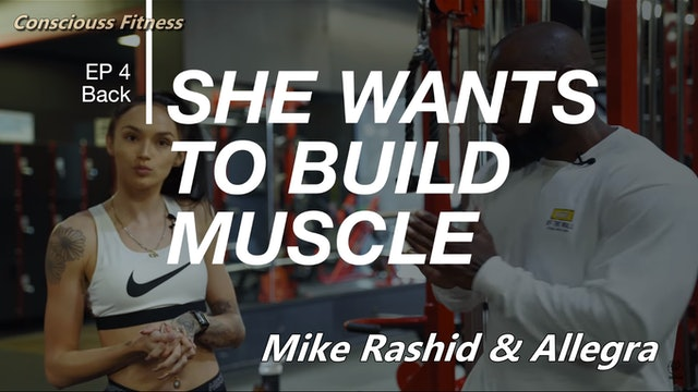 She Wants to Build Muscle   Back & Tricep Workout   Mike Rashid & Allegra
