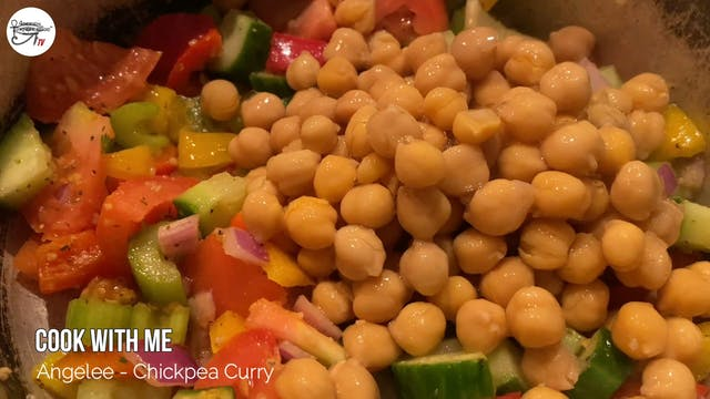 Angelee Cooks - Chickpea Curry