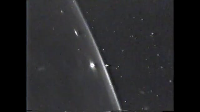 NASA cam pans to see UFO over Earth