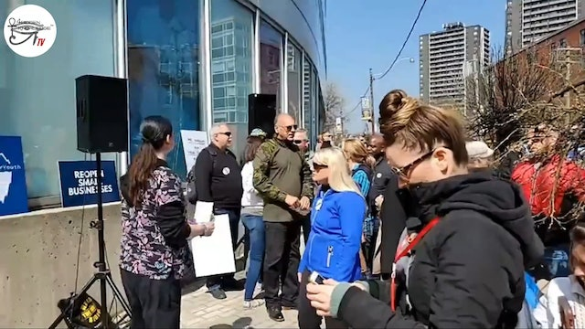 Canadian Frontline Nurses (CFLN) PROTEST AT College of Nurses of Ontario TORONTO