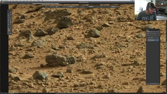 Piece of Glass Or Transparent Plastic On Mars !