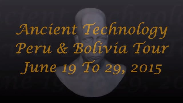 Ancient Technology Peru And Bolivia T...