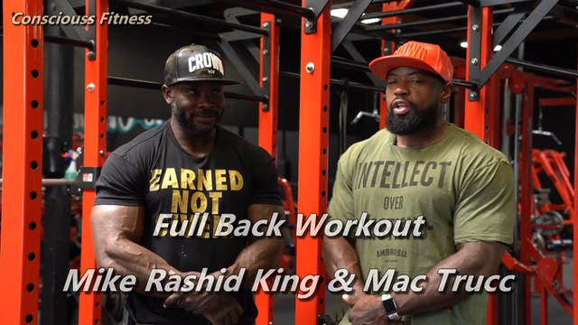 Full Back Workout   Mike Rashid King ...