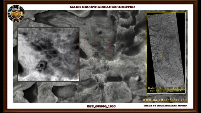 Martian Constructions Seen From Satel...