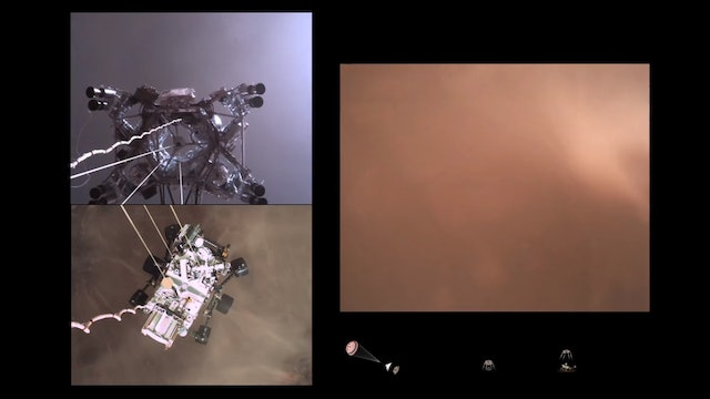 Mars 2021 - The Perseverance Rover's Descent to Mars - Onboard Camera Views
