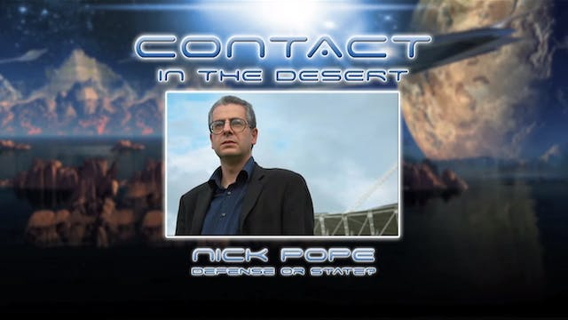 Nick Pope - Defence or state.  Part 1...