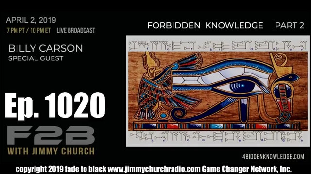 Ep. 1020 FADE to BLACK Jimmy Church w  Billy Carson P2   The Halls of Amenti