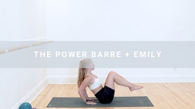 The Power Barre + Emily (45 min)