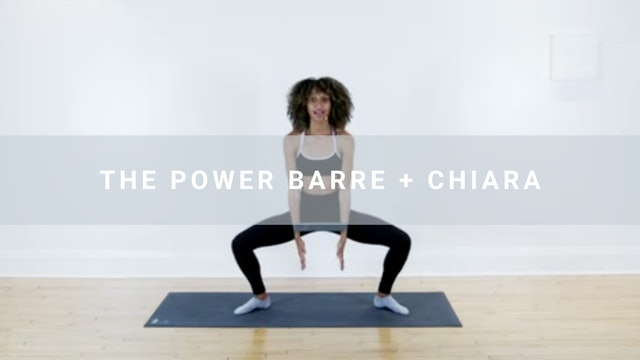 The Power Barre + Chiara (30 min)
