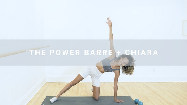 The Power Barre + Chiara (58 min)