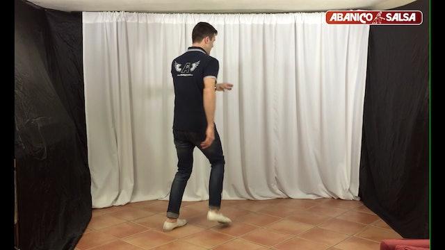 141 - Salsa - Shines - cord step, spiral kick & angle suzie q