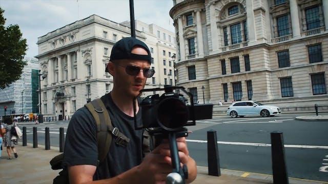Filming in London