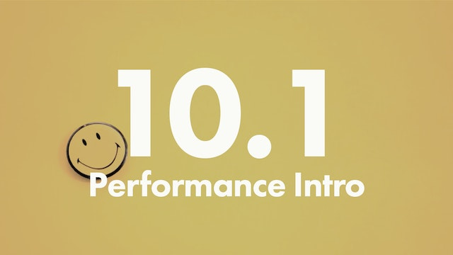 10.1 Performance intro