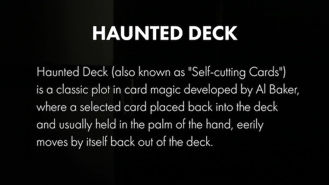 Credits - Haunted Deck
