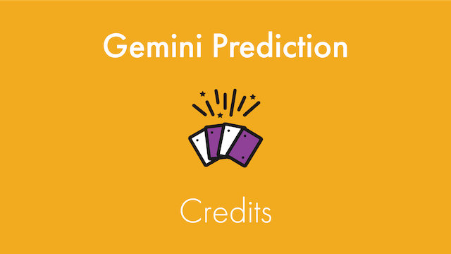 Gemini Prediction Credits