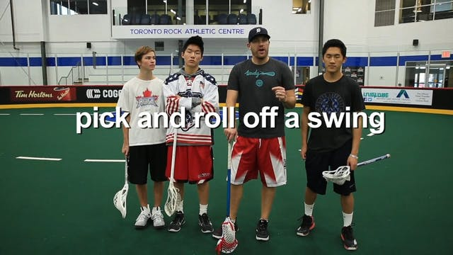 Down Pick and Roll off a Swing