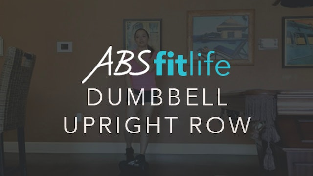 How to do a dumbbell upright row for shoulders