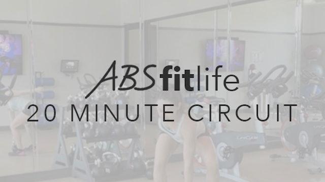 20 Minute Total Body Circuit-Thrusters & Push-Ups