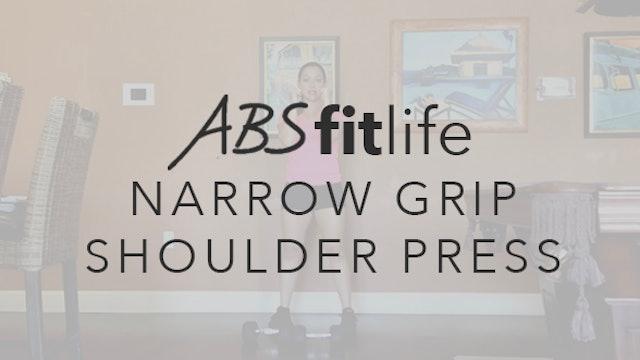 How to do a narrow grip shoulder press