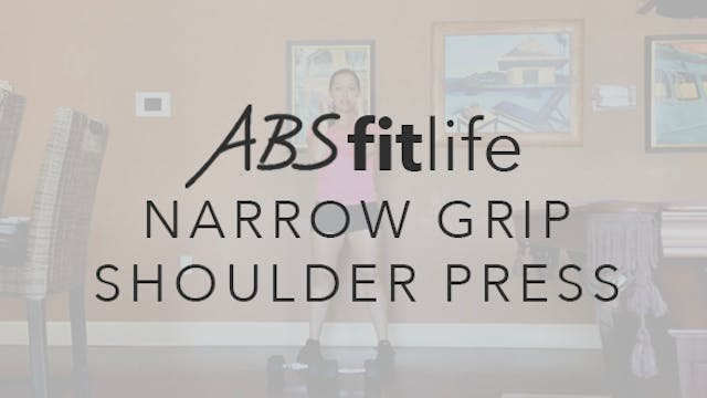 How to do a narrow grip shoulder press