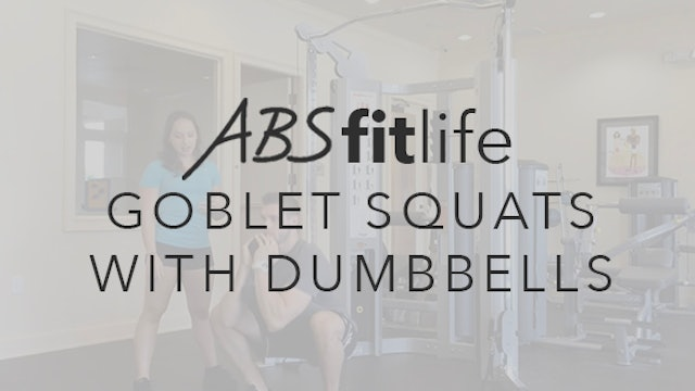 How to do a Front Squat or Goblet Squat with dumbbells