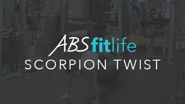 Advanced AB Exercise-Scorpion Twist