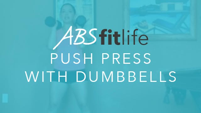 How to do a Push Press with dumbbells