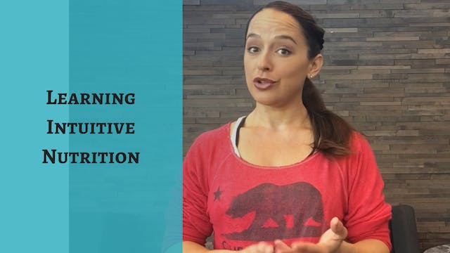 Learning How To Eat Intuitively for Y...