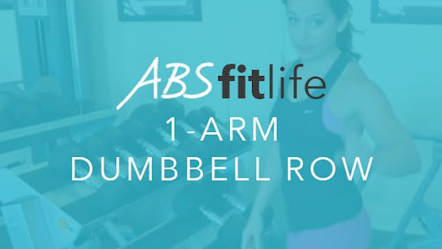 How To Do A 1-Arm Dumbbell Row for Back