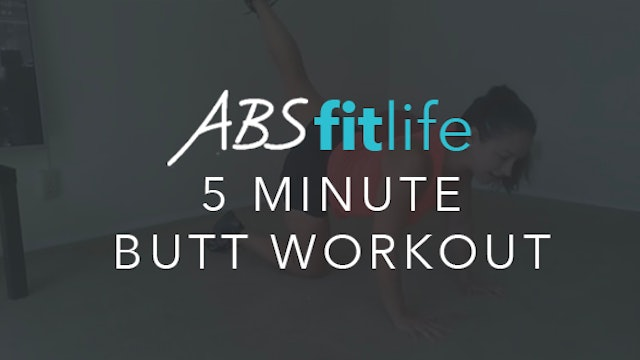 5 Minute Butt Workout