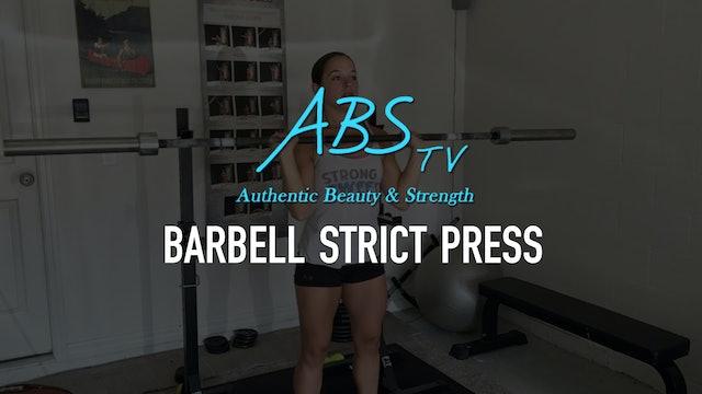 Barbell Strict Press