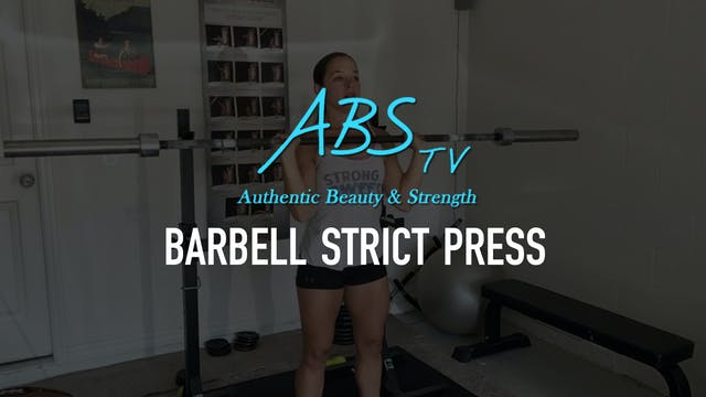 Barbell Strict Press