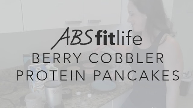 Berry Cobbler Protein Pancakes