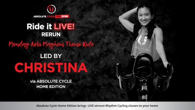 CHRISTINA - ABSOLUTE 45 (Ride it LIVE on 21 June 2021)