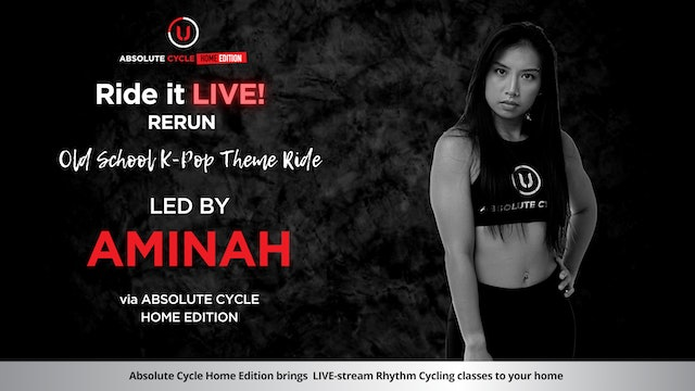 AMINAH - ABSOLUTE 45 - Old School K-Pop Theme (Ride it LIVE on 11 June 2021)