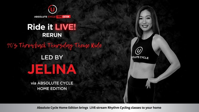JELINA - ABSOLUTE 45 - 90's Throwback Thurs Theme (Ride it LIVE on 29 July 2021)