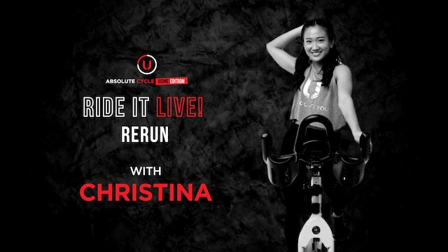 CHRISTINA - ABSOLUTE 45 (Ride it LIVE on 15 OCTOBER 2021)