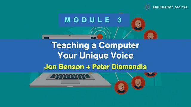 Copy Pro: Module 3 - Teaching a Computer Your Unique Voice